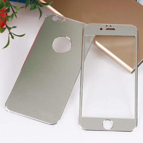 Bufalo Apple iPhone 6 Plus Metal Kenarlı Gri Ön Arka Cam Ekran Koruyucu