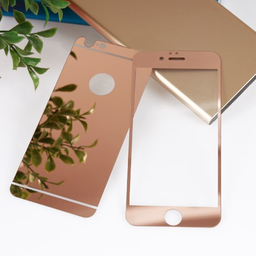 Bufalo Apple iPhone 5S Aynalı Ön Arka Cam Ekran Koruyucu Rose Gold