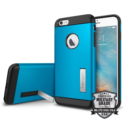 Spigen iPhone 6s Plus/6 Plus Kılıf Slim Armor Electric Blue - SGP11652