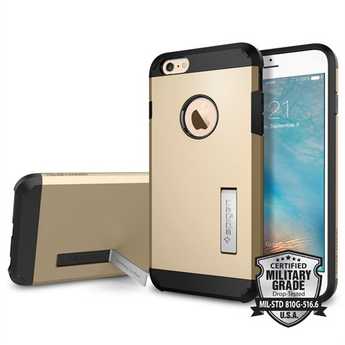 Spigen iPhone 6s Plus/6 Plus Kılıf Tough Armor Champagne Gold - SGP11659