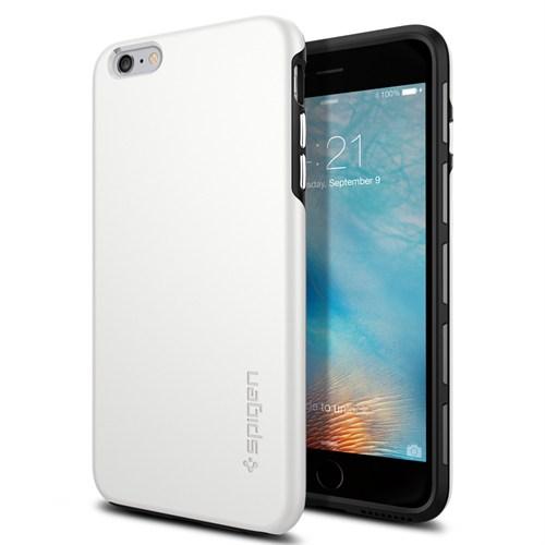 Spigen iPhone 6s Plus/6 Plus Kılıf, Spigen Thin Fit Hybrid White - SGP11733
