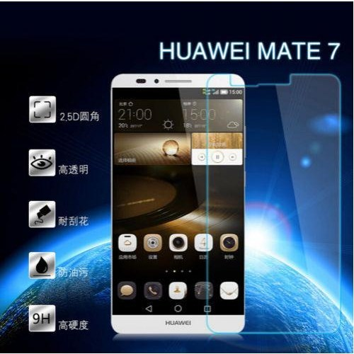 Pdcstore Huawei Mate 7 Tempered Cam Ekran Koruyucu Film