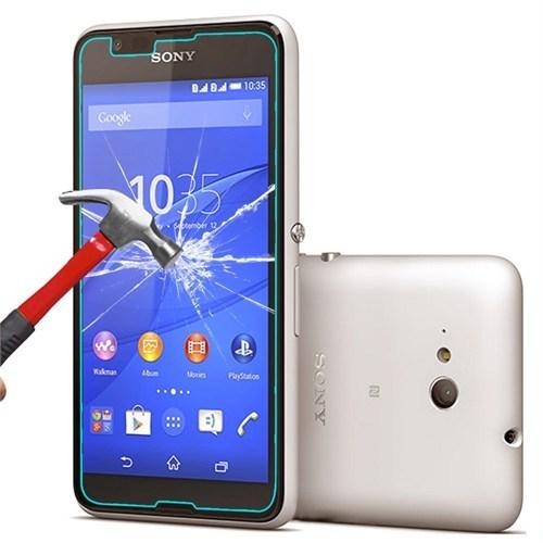 Pdcstore Sony Xperia E4g Temperli Cam Ekran Koruyucu Kırılmaz Film