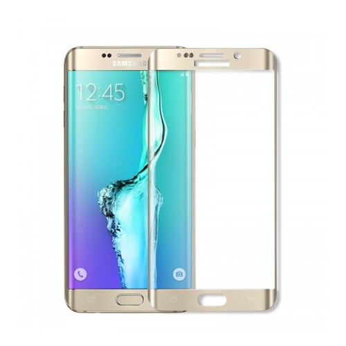 Sfm Samsung Galaxy S6 Edge Temperli Cam Ekran Koruyucu Gold