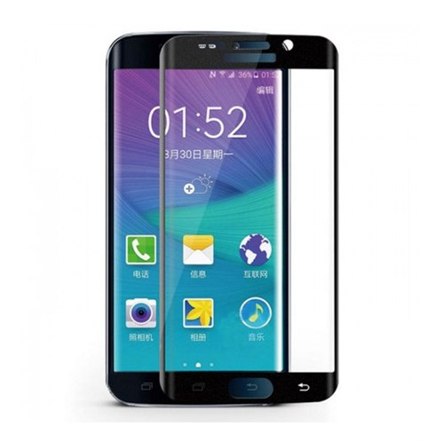 Sfm Samsung Galaxy S6 Edge Temperli Cam Ekran Koruyucu Siyah