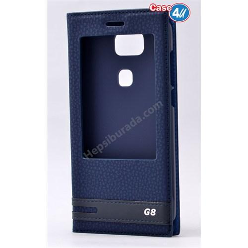 Case 4U Huawei G8 Pencereli Kılıf Lacivert
