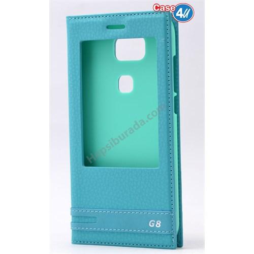 Case 4U Huawei G8 Pencereli Kılıf Yeşil