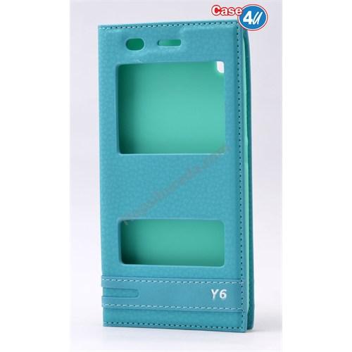 Case 4U Huawei Y6 Pencereli Kılıf Yeşil