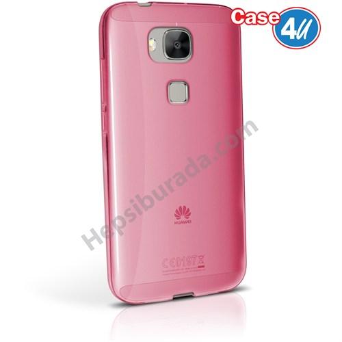 Case 4U Huawei G8 Ultra İnce Silikon Kılıf Pembe