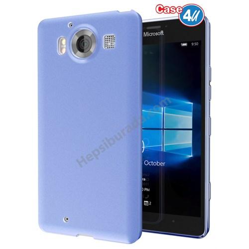 Case 4U Microsoft Lumia 950 Ultra İnce Silikon Kılıf Mavi