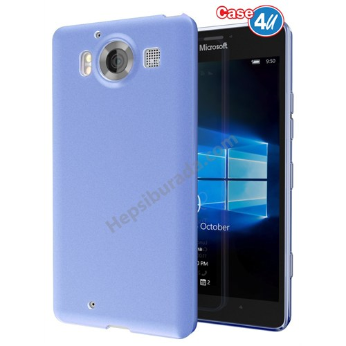 Case 4U Microsoft Lumia 950 Xl Ultra İnce Silikon Kılıf Mavi