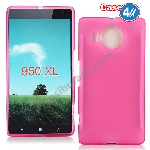 Case 4U Microsoft Lumia 950 Xl Ultra İnce Silikon Kılıf Pembe