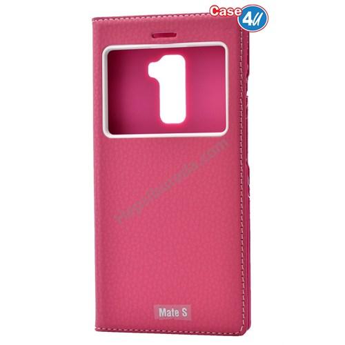 Case 4U Huawei Mate S Dolce Kapaklı Kılıf Pembe