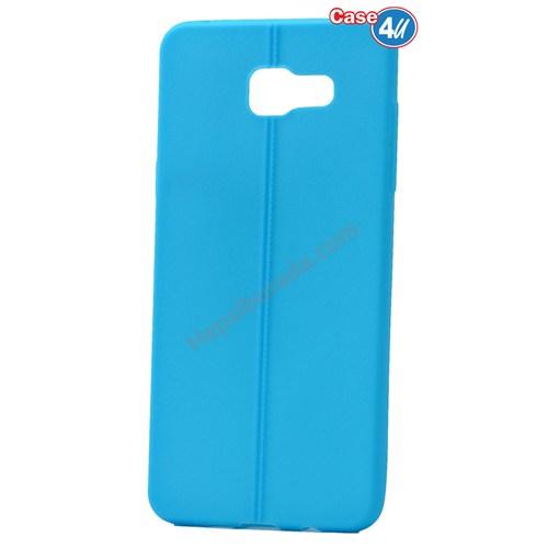 Case 4U Samsung A510 Galaxy A5 Desenli Silikon Kılıf Mavi