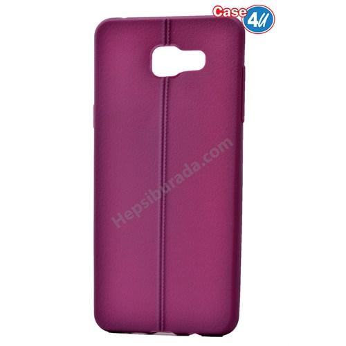 Case 4U Samsung A510 Galaxy A5 Desenli Silikon Kılıf Mor