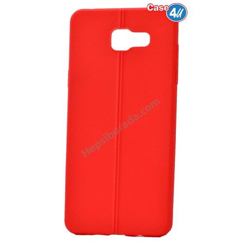 Case 4U Samsung A710 Galaxy A7 Desenli Silikon Kılıf Kırmızı