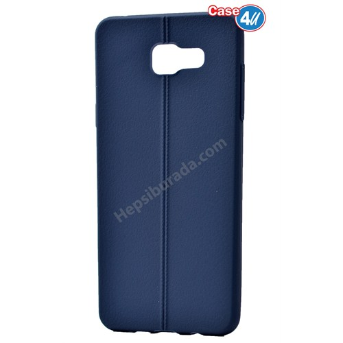 Case 4U Samsung A710 Galaxy A7 Desenli Silikon Kılıf Lacivert