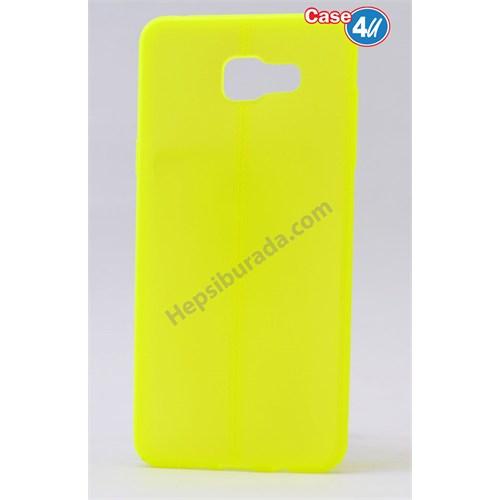 Case 4U Samsung A710 Galaxy A7 Desenli Silikon Kılıf Sarı