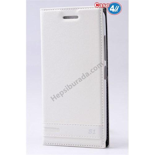 Case 4U Lenovo Vibe S1 Kapaklı Kılıf Beyaz