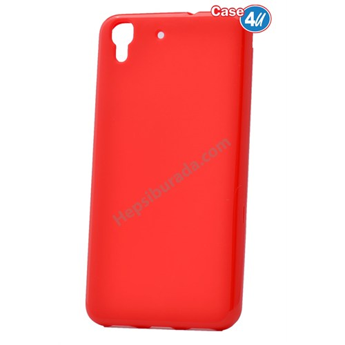 Case 4U Huawei Y6 Soft Silikon Kılıf Kırmızı