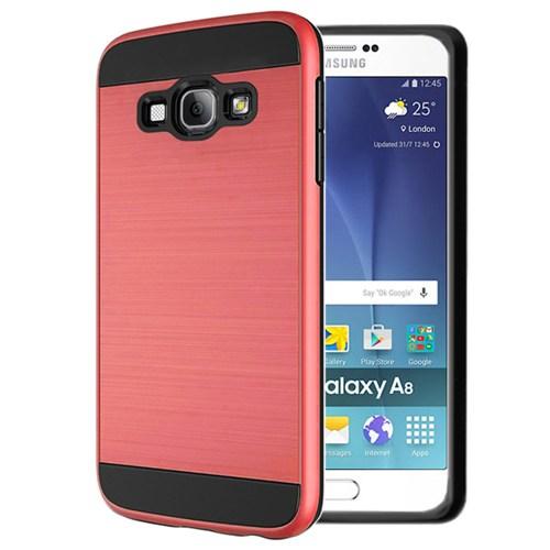 Microsonic Samsung Galaxy A8 Kılıf Slim Heavy Duty Kırmızı