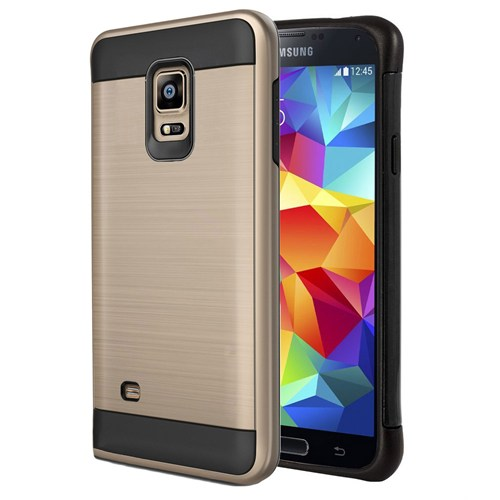 Microsonic Samsung Galaxy S5 Kılıf Slim Heavy Duty Gold