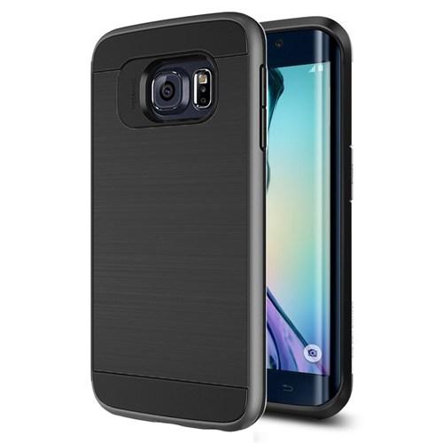 Microsonic Samsung Galaxy S6 Edge Kılıf Slim Heavy Duty Siyah