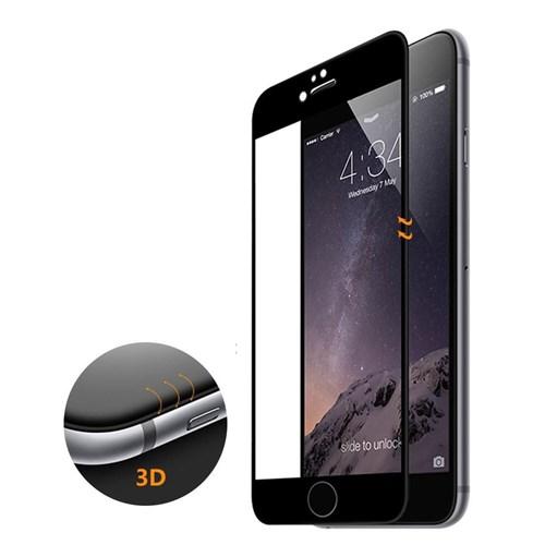 Microsonic İphone 6S Plus 3D Kavisli Temperli Cam Full Ekran Koruyucu Kırılmaz Film Siyah
