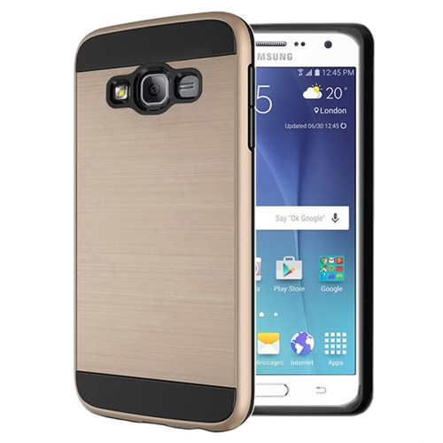 Microsonic Samsung Galaxy On7 Kılıf Slim Heavy Duty Gold