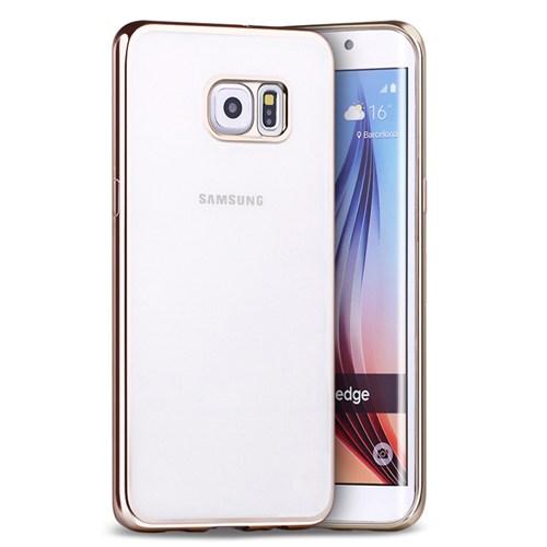 Microsonic Samsung Galaxy S6 Edge Plus Kılıf Flexi Delux Gold