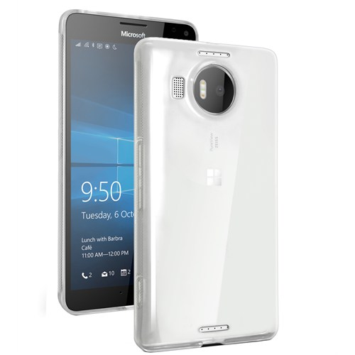 Microsonic Miscrosoft Lumia 950 Xl Kılıf Transparent Soft Beyaz