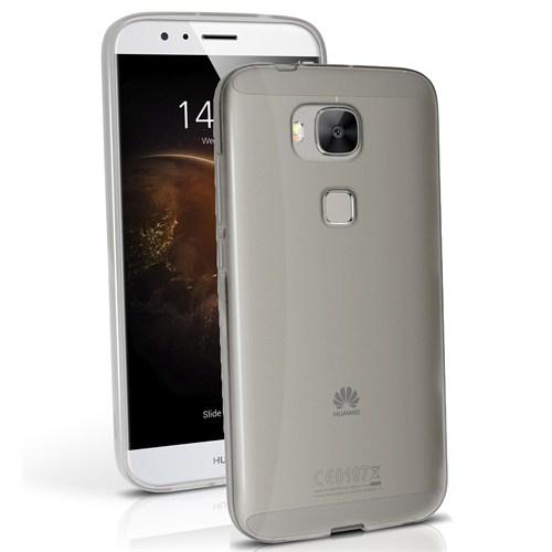 Microsonic Huawei Ascend G8 Kılıf Transparent Soft Siyah