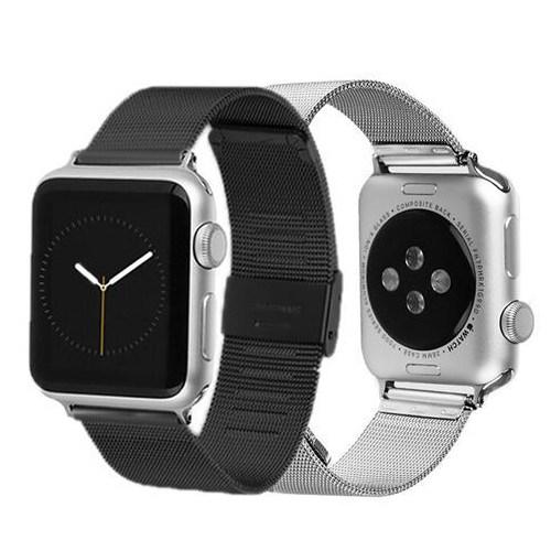 Markacase Apple Watch 42 Mm Siyah Saat Kordonu İtalyan Milanese Stil