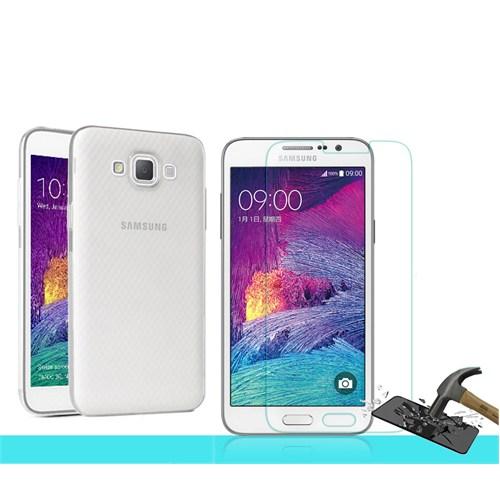Microsonic Samsung Galaxy Grand Max Transparant Kılıf & Kırılmaz Cam