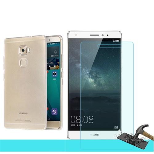 Microsonic Huawei Ascend Mate S Transparant Kılıf & Kırılmaz Cam