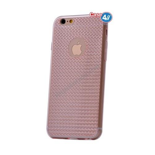Case 4U Apple İphone 6 Plus Elgance Silikon Kılıf Pembe