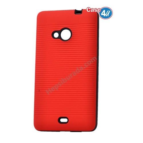 Case 4U Microsoft Lumia 535 You Koruyucu Kapak Kırmızı