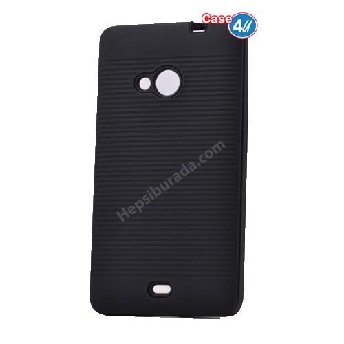 Case 4U Microsoft Lumia 535 You Koruyucu Kapak Siyah*