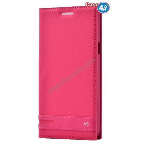 Case 4U Samsung A510 Galaxy A5 Gizli Mıknatıslı Kapaklı Kılıf Pembe