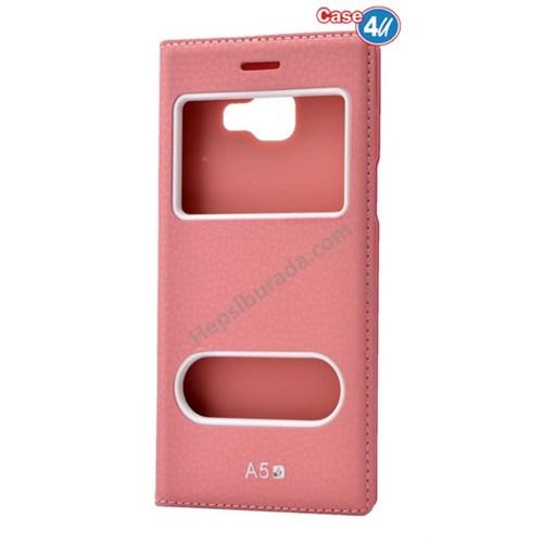 Case 4U Samsung A510 Galaxy A5 Dolce Kapaklı Kılıf Açık Pembe