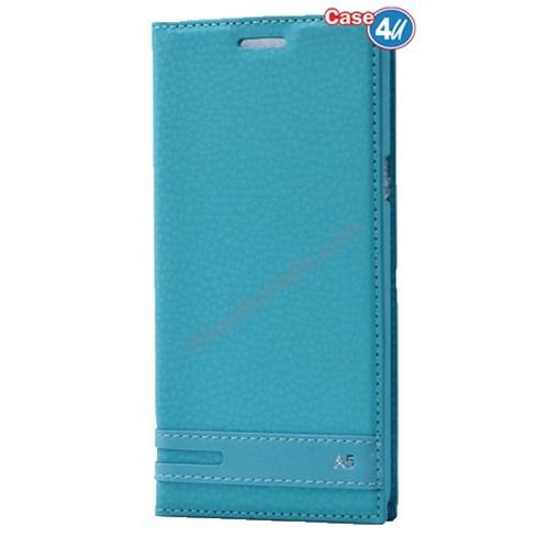 Case 4U Samsung A510 Galaxy A5 Gizli Mıknatıslı Kapaklı Kılıf Yeşil
