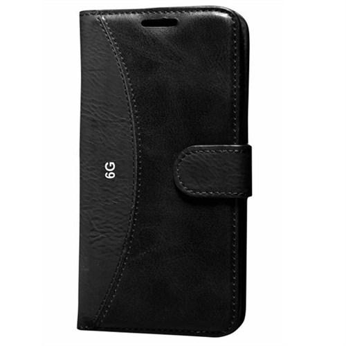 Cep Market Apple İphone 6/6S Kılıf Standlı Cüzdan - Siyah
