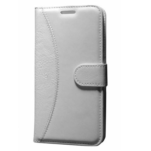 Cep Market Samsung Galaxy A5 Kılıf Standlı Cüzdan (Beyaz)