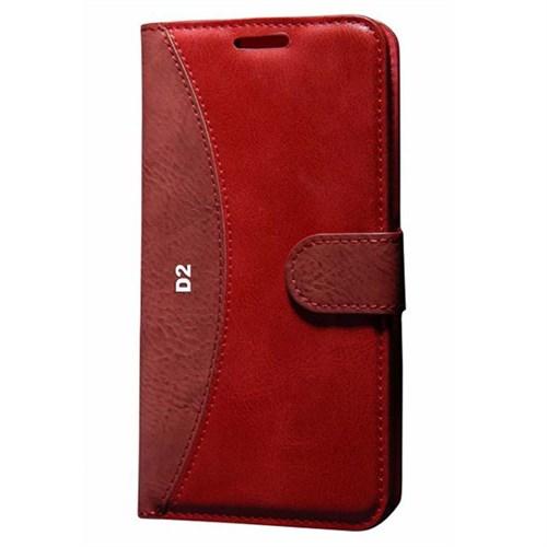 Cep Market General Mobile Discovery 2 Kılıf Standlı Cüzdan (Kırmızı)