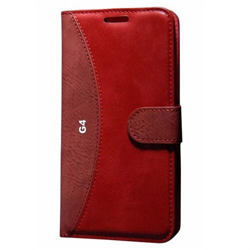 Cep Market Lg G4 Kılıf Standlı Cüzdan (Kırmızı)