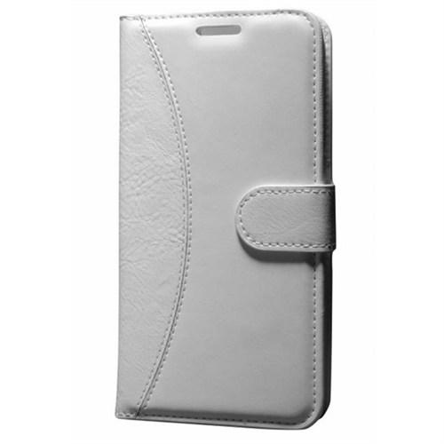 Cep Market Huawei G7 Kılıf Standlı Cüzdan (Beyaz)