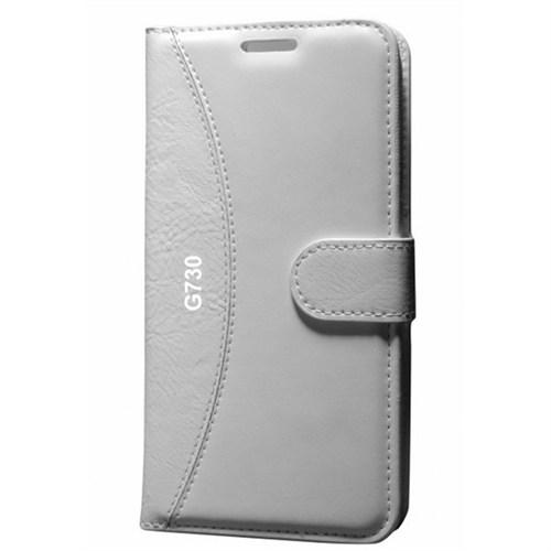 Cep Market Huawei G730 Kılıf Standlı Cüzdan (Beyaz)