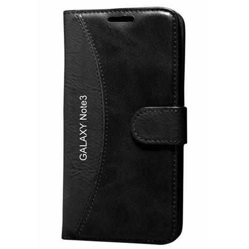 Cep Market Samsung Galaxy Note 3 Kılıf Standlı Cüzdan (Siyah)
