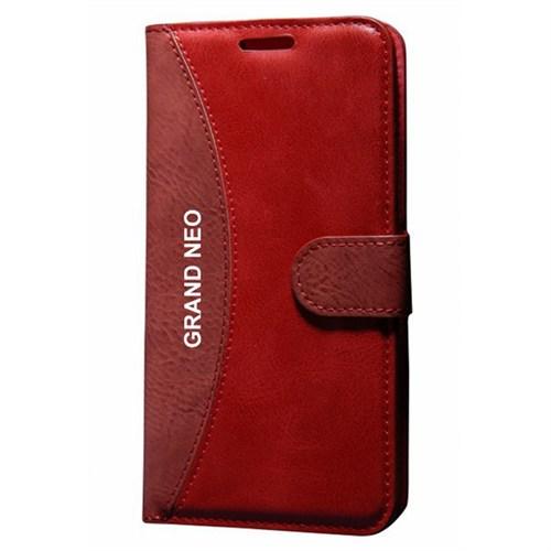 Cep Market Samsung Galaxy Grand Neo Kılıf Standlı Cüzdan (Kırmızı)