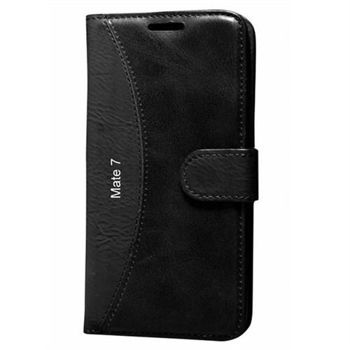 Cep Market Huawei Mate 7 Kılıf Standlı Cüzdan (Siyah)